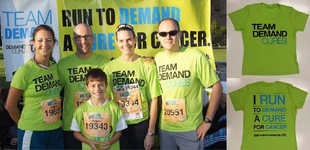 Team Demand Shirts and Runners for Cancer Research